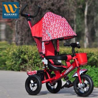 Harga New Baby Kids Bike Trike Stroller Toddler Sunshade Pushchair Ride-On Tricycle LBB-5588QP #30331