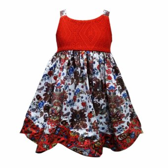 Harga Rare Collection Printed Kids Dress (Orange)