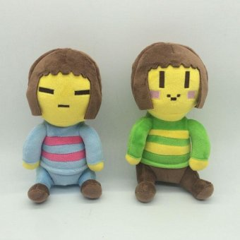 2PCS Undertale Frisk Chara Plush Doll Cute Dolls Christmas Children Gifts Kids - intl Price Philippines
