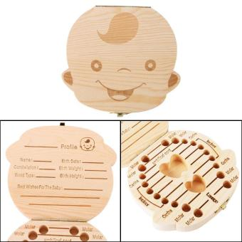 leegoal Baby Wooden Teeth Save Box Milk Teeth Wood Case Storage Kids Keepsake Organizer (Boy) - intl Price Philippines