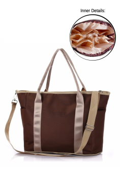 Multifunctional Mommy Baby Diaper Changing Waterproof Organizer Tote Shoulder Storage Bag (Brown) Price Philippines