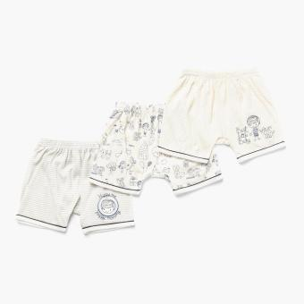 Harga Hush Hush Boys 3-piece Best Little Baby Drop-crotch Shorts Set (Off-White)
