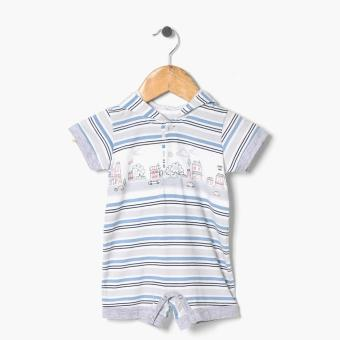 Harga Hush Hush Boys City Houses Hooded Romper (Gray)
