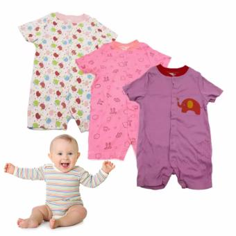 Tickle R10 Assorted Color/Design Babies 3 Pack Romper Price Philippines