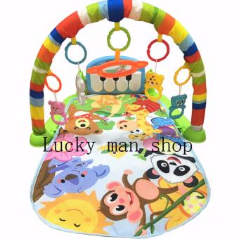 Harga Lucky man Animal Discover 'n Grow Kick and Play Piano Gym