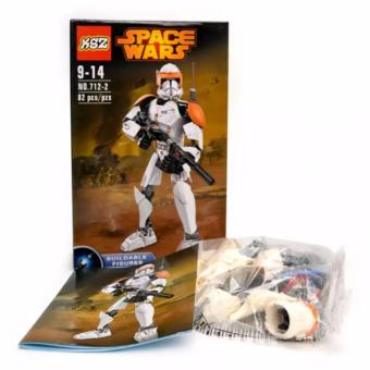 Harga Space Wars Robotic Lego Style NO. 712-1 (White)