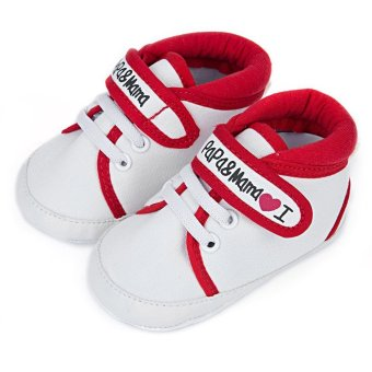 Cute Letter Print Soft Sole Canvas Toddler Shoes for Infant Babies - Intl Price Philippines