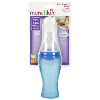 Harga Munchkin Easy Squeezy Spoon (Blue)