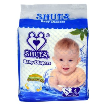 Harga Shuta (S-4081) Dsposable Baby Diapers S 4'pcs(Blue)