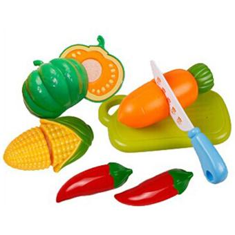 LALANG Kitchen Fun Cutting Fruits Vegetables Food Play Toy Set For Kids Children Babies (Vegetables ) - intl Price Philippines