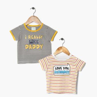 jusTees Boys 2-Piece Mommy and Daddy Statement Tee Set (18M) Price Philippines