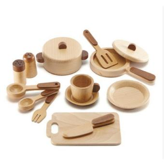 Mommy Republic Wooden Kitchen Set 15 pcs (Red Wood) Price Philippines