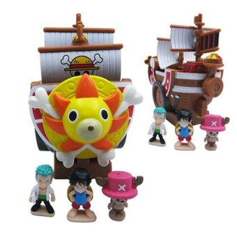 Japanese Animation Pirate Boy Bank Thousand Sunny Pirate Ship Luffy Figure Toy In Box Multicolor Price Philippines