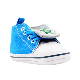 Harga BABY STEPS Little Dude Star Baby Boy Shoes (Blue)