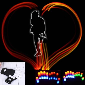 Harga Jo.In Fingers LED Rave Flashing Gloves Glow 7 Mode Light Up Finger Lighting