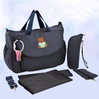 6 IN 1 Mommy Large Capacity Nursing Maternity Baby Diaper Bag - intl Price Philippines