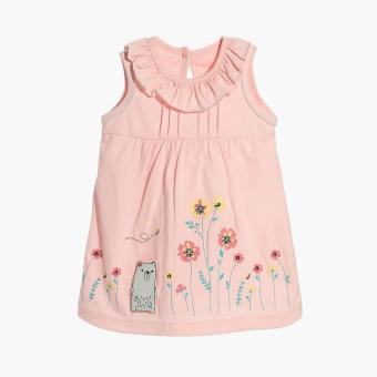Harga Hush Hush Girls Bear's Flowers A-line Dress (Pink)