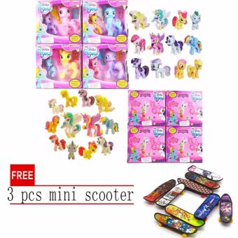 Harga Hasbro My Little Pony Explore Equestria Fluttershy Action Friends 2pcs set with free 3 pcs mini scooter