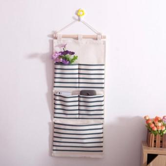 Harga Opened Multi-Storey Storage Bag Behind Door Hanging Bag Fabric Art Wall Hanging Storage Bag 6 Pocket Hanging Bag - intl