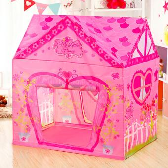 Harga Lovely Pink House Portable Kids Tent - intl