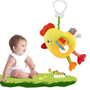 Harga Musical Hanging Pulling Bell Plush Chick Animal Toy for Crib Stroller - intl