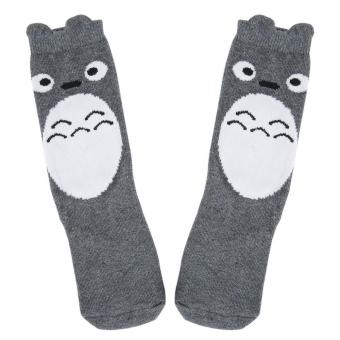 Cute Cartoon Pattern Cotton Warm Soft Long Socks for Babies (4 - 6 YEARS OLD) (Grey) - intl Price Philippines