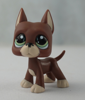 Harga Brown Great Dane Dog Puppy Girl toys Littlest Pet Shop LPS #1519 Green Eyes - Intl