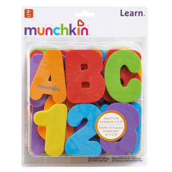 Harga Munchkin Bath Letters and Numbers (Multicolor)
