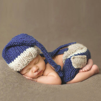 Harga Newborn Bagby Knit Photography Prop Bue