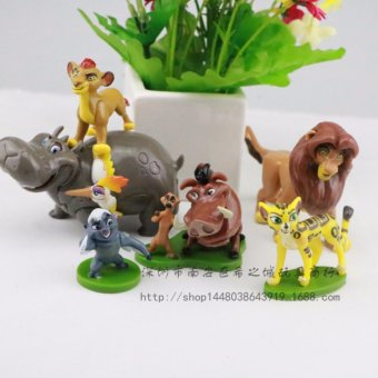 Harga 6pcs/set The Lion Guard Lion PVC Action Figures Animals Figurines Statue Kids Toys Gift - intl