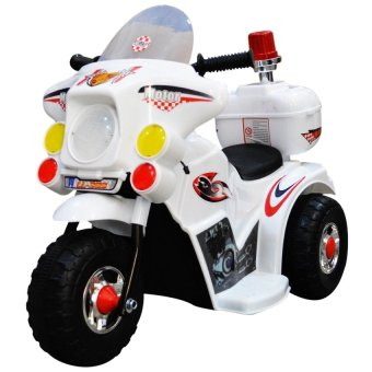 Harga C&C TC-005 Rechargeable Motor Bike Kids Ride-on Toys Police Motorcycle (White)