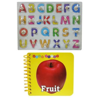 Harga Wooden Alphabet A-Z Big Letter and Baby Book Fruit
