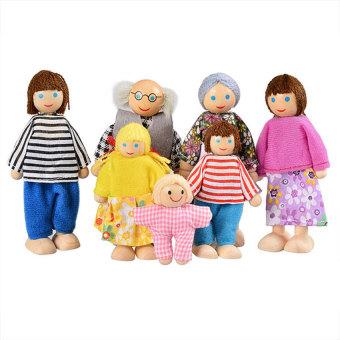 GDS Baby Kids Girls Doll Toy Happy Dolls Family Of 7Stuffed Toys (Multicolor) - Intl - intl Price Philippines