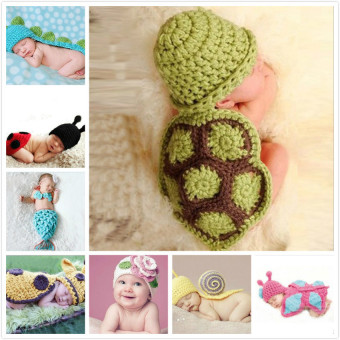Harga GDS Photography Prop Crochet Knit Baby Costume Hat - intl