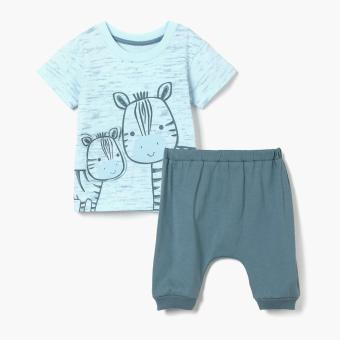 Harga Hush Hush Boys Zebra Tee and Joggers Set (Blue)