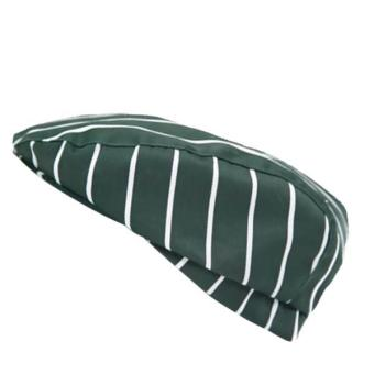 BolehDeals Chef Hat Catering Baker Cook Duckbill Beret Golf Cap Green Stripes - intl Price Philippines