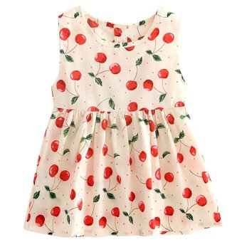 Kids Girls Sleeveless Floral Princess Spring Summer Dress - intl Price Philippines