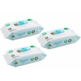 Harga Little Tree Baby Wipes (80 WIPES) For Hand & Mouth 3 Packs