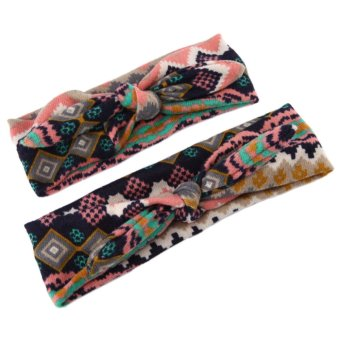 2PCs Mommy-Baby Stretch Knot Bow Headbands Price Philippines