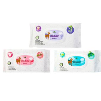 Harga Little Tree Baby Wipes (80 WIPES) For Nappy + Hand & Mouth + General Use