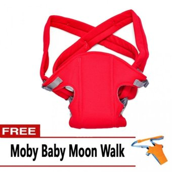 Harga Baby Carrier (Red) with FREE Moby Baby Moon Walk