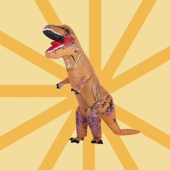Funny Adult Inflatable Dinosaur Trex Costume Suit Air Fan Operated Blow Up Halloween Cosplay Fancy Dress Animal Costume Jumpsuit - intl Price Philippines