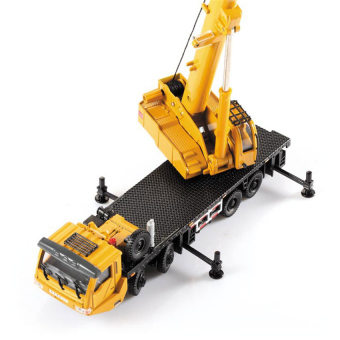 Harga 2016 High Quality Alloy Engineering Vehicle Material Handling Vehicle Heavy Cranes Manipulator Arm Telescopic Boom Rotation Car Model Toys(yellow)