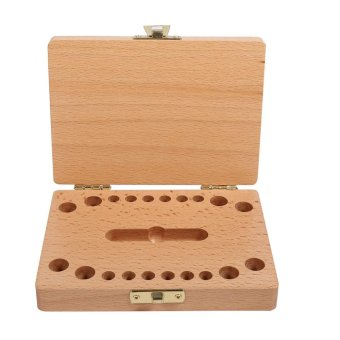 Milk Teeth Wooden Tooth Saving Storage Box Organizer For Kids Baby 3-6 Years Creative (Boy) - intl Price Philippines