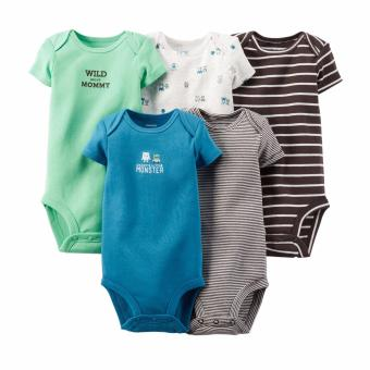 Carter's 5-Pack Bodysuits - Wild About Mommy (Newborn) Price Philippines