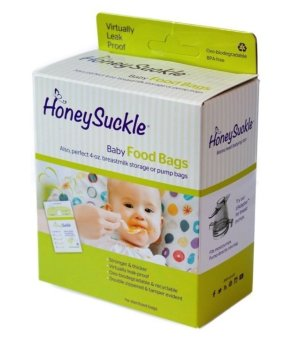Harga Honeysuckle Small Breastmilk Bags/Baby Food Bags, Pack of 25