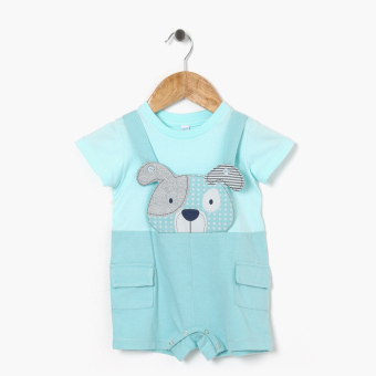 Harga Hush Hush Boys Cutie Doggie Faux-Jumper (Blue Green)