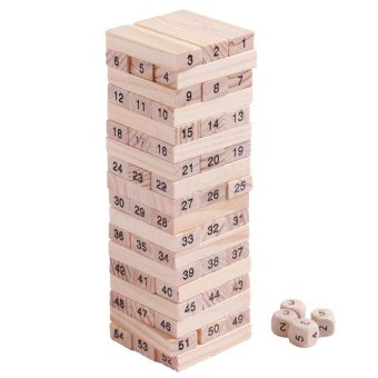 Ai Home 54pcs Blocks 4 Dices Wooden Educational Game Party Family Board Game Wonderful Gift Price Philippines