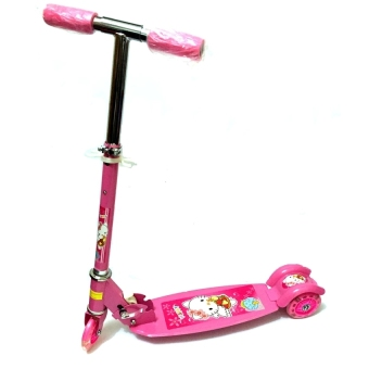 Harga Ride-On Push Scooter for Kids with Laser Wheel (Pink)