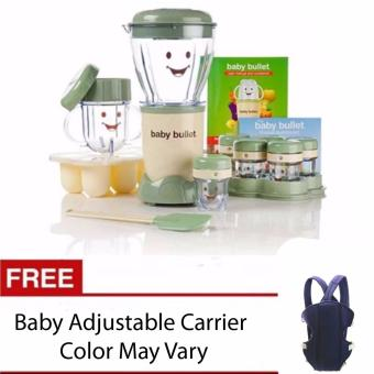 Harga Baby Food Maker Blender 20 pieces with FREE Baby Adjustable Carrier (Color May Vary)
